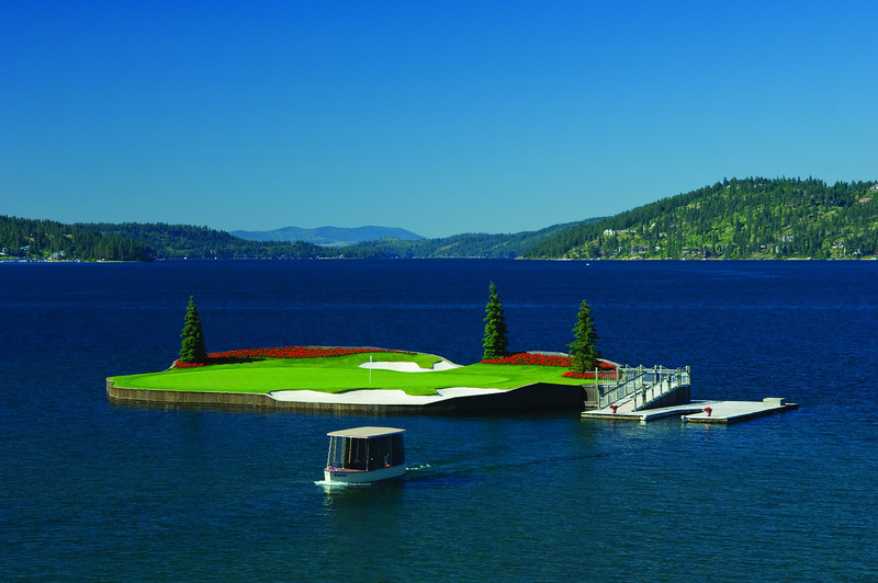 Coeur d'Alene Resort's Floating Green-L