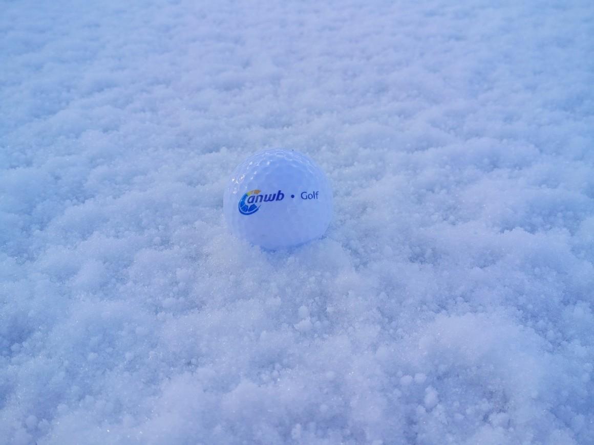 Sneeuw golfbal