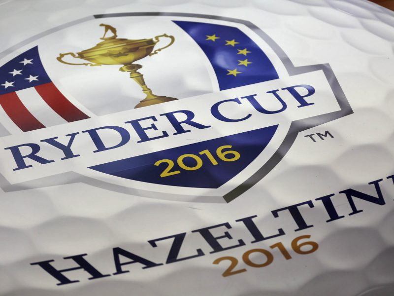 Signage for the 2016 Ryder Cup at a press conference to announce Davis Love III as the 2016 Ryder Cup captain at PGA of America Feb 24, 2015, in Palm Beach Gardens. (Bill Ingram / Palm Beach Post)