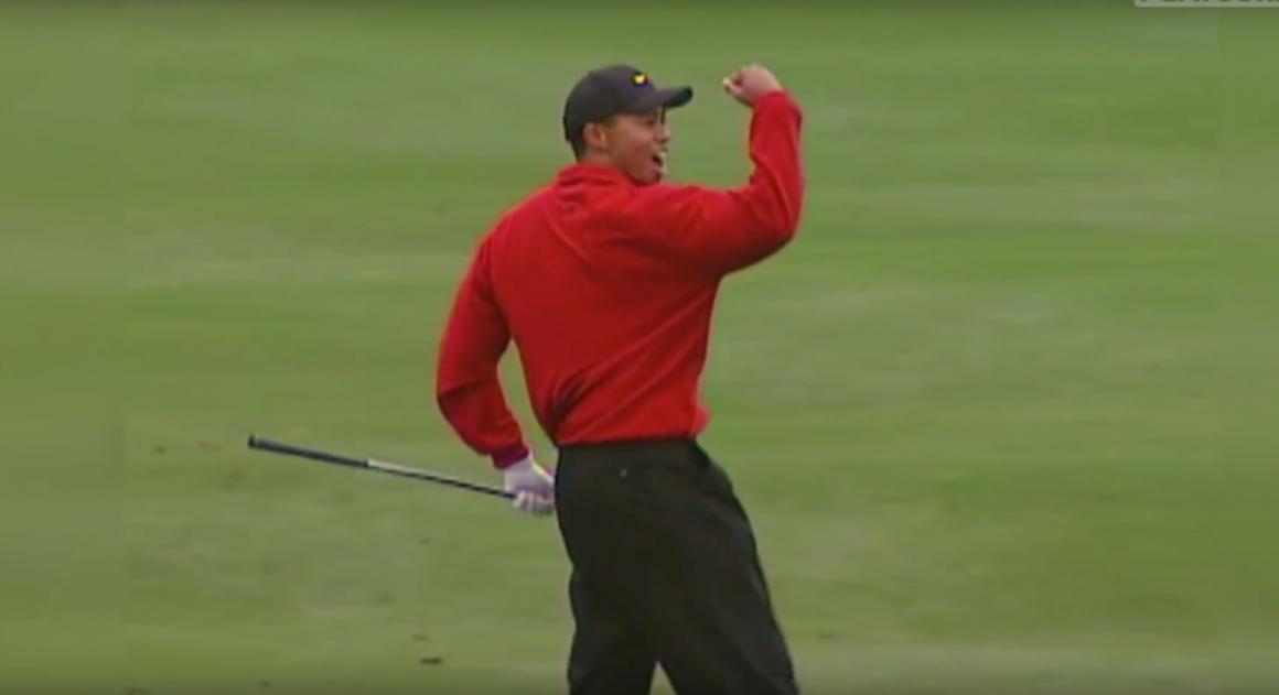 Tiger Woods cheer